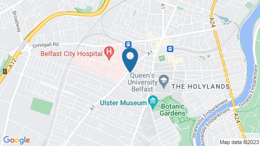Paddy's Palace Belfast Hostel Map
