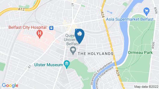 Dukes at Queens Boutique Hotel Map