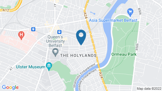 Holiday Inn Express Belfast City Map