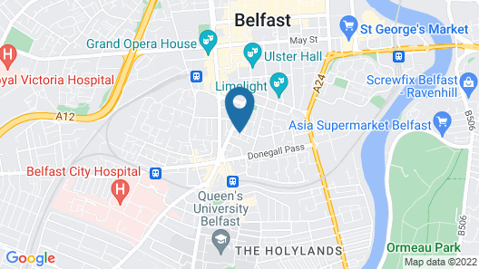 Belfast City Centre Apartment Map