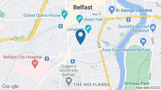 Central Belfast Apartments: Salisbury Map