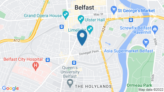 Belfast Self Catering Apartment Map