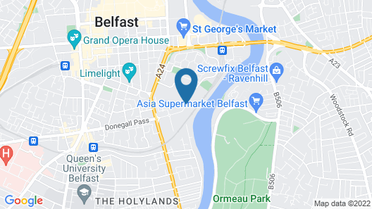 Radisson Blu Hotel Belfast Map