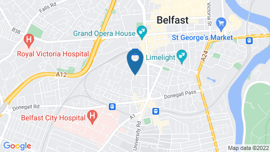 Central Belfast Apartments: Victoria Map