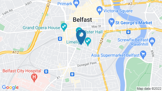 Clayton Hotel Belfast Map