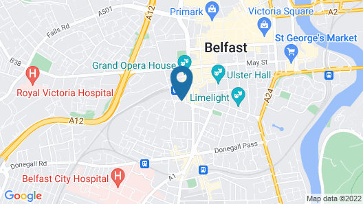 Holiday Inn Belfast City Centre Map