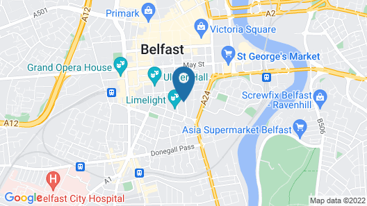 Central Belfast Apartments: Alfred Street Map