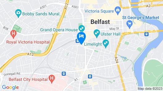 Hampton by Hilton Belfast City Centre Map