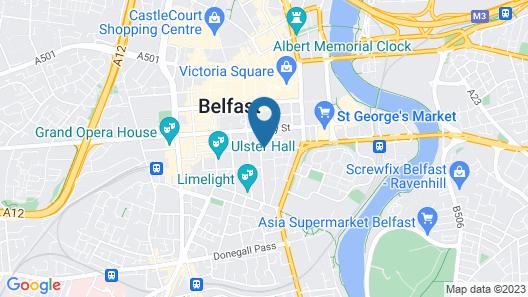 Central Belfast Apartments: Citygate Map