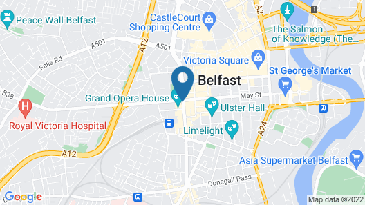 The Fitzwilliam Hotel Belfast Map