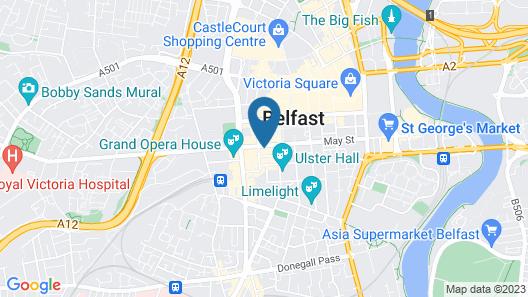 easyHotel Belfast Map