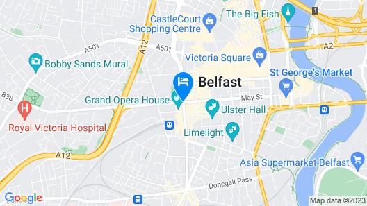 Jurys Inn Belfast Map