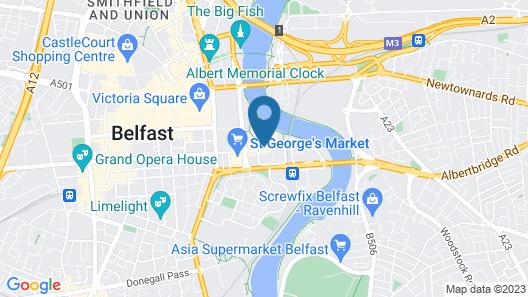 Hilton Belfast hotel Map