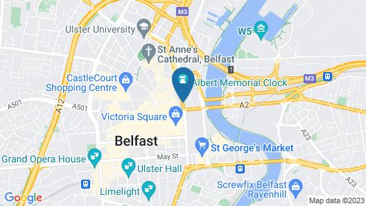 Malmaison Belfast Map