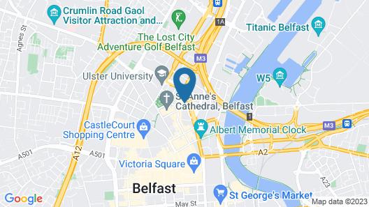 Ramada by Wyndham Belfast City Centre Map