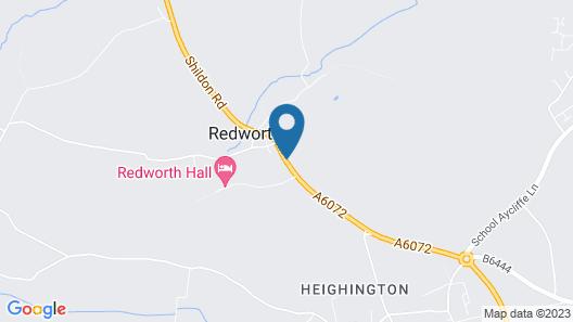 Redworth Hall Hotel Map
