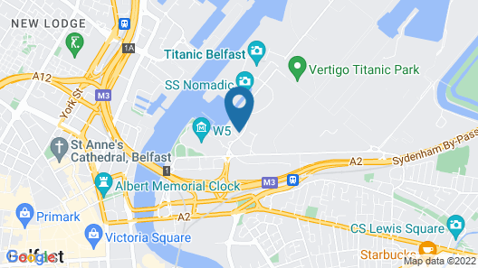Luxury Accommodation in Belfast's Titanic Quarter Map