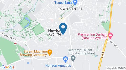 Bewick Crescent Serviced Accomodation Map