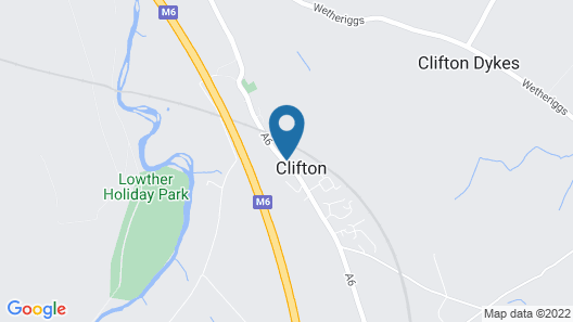 2 Bedroom Accommodation in Clifton, Near Penrith Map