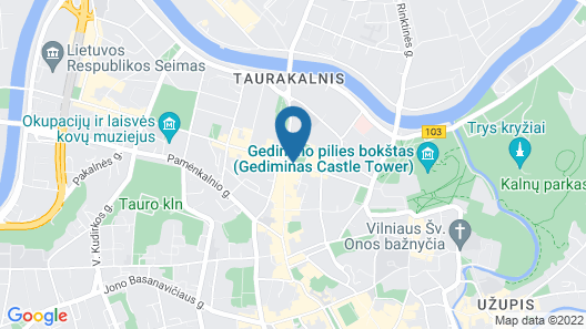 Novotel Vilnius Centre Map