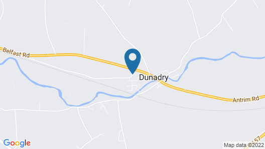 Dunadry Hotel and Gardens Map