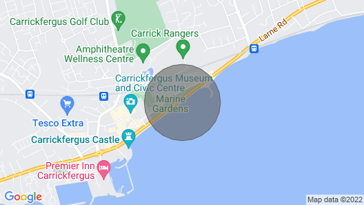 Ahoy3 apartment Carrickfergus (Safe, Sanitized and Super-comfy with Sea-views!) Map