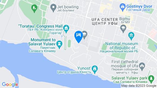 Hilton Garden Inn Ufa Riverside Map