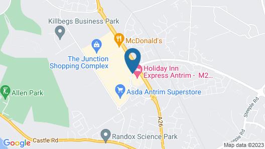 Holiday Inn Express Antrim Map