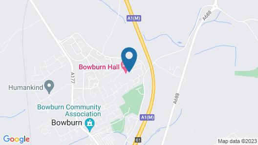 Bowburn Hall Hotel Map