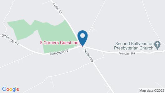 5 Corners Guest Inn Map