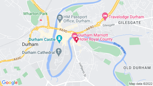 Durham Marriott Hotel Royal County Map