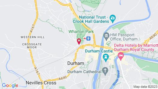 Bridge Hotel Durham Map
