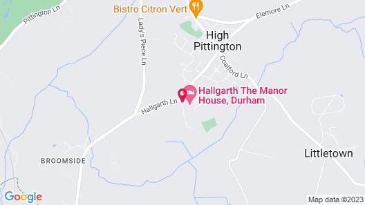 Hallgarth The Manor House Map