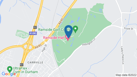 Ramside Hall Hotel, Golf and Spa Map