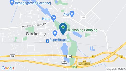 Danhostel Sakskøbing Map