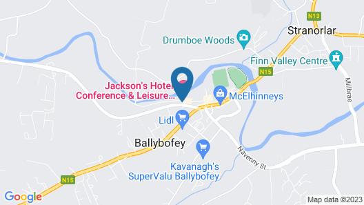 Jackson's Hotel & Leisure Club Map