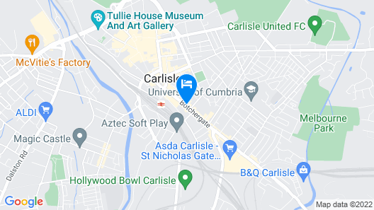 ibis Carlisle – City Centre Map