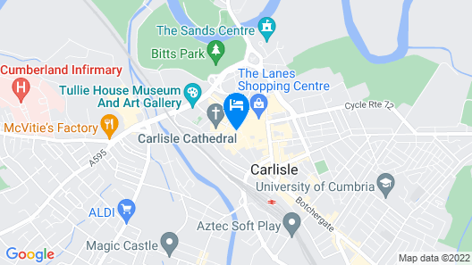 Crown and Mitre Hotel Map