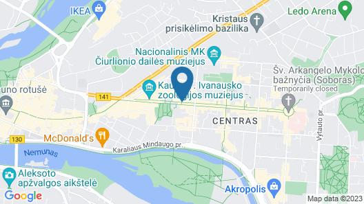 Best Baltic Kaunas Hotel Map