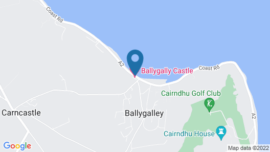 Ballygally Castle Map
