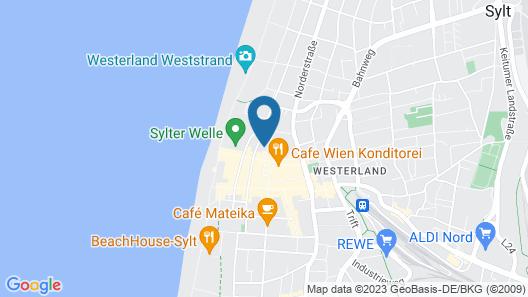 Aubis Hotel Sylt Map