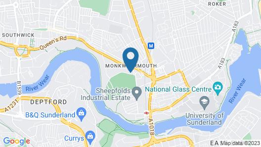 Hilton Garden Inn Sunderland Map