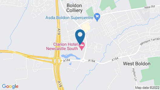 Clarion Hotel Newcastle South Map