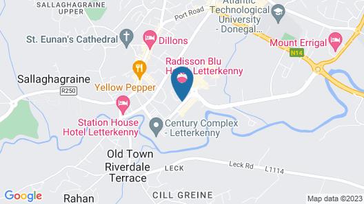 Radisson Blu Hotel, Letterkenny Map