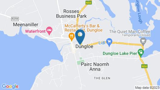 Donegal Wild Atlantic Hostel Map