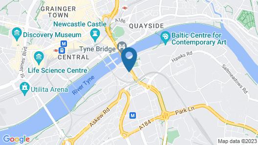 Hilton Newcastle Gateshead Map