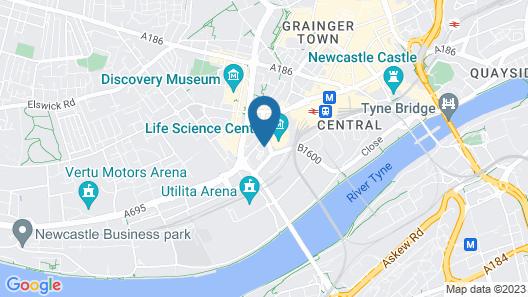 Alexander Apartments Newcastle Map