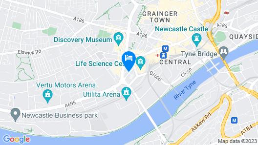 Jurys Inn Newcastle Map