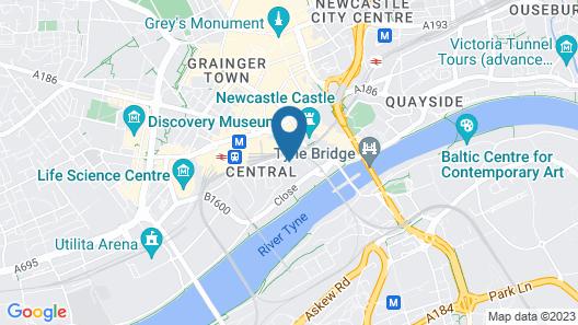 Roomzzz Newcastle Map