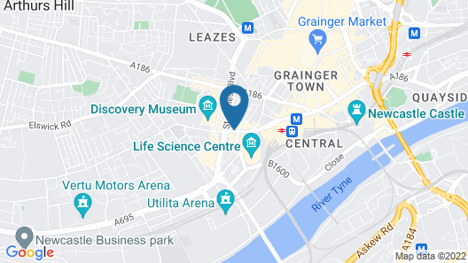 Holiday Inn Express Newcastle City Centre, an IHG Hotel Map
